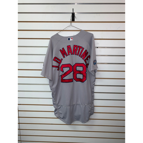 Photo of JD Martinez Team Issued 2018 Postseason Road Jersey