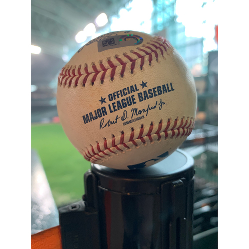 Photo of 2018 Game-Used Baseball  9/18/18 Astros vs. Mariners: Josh James to Robinson Cano - Top 6th (Double to RF)