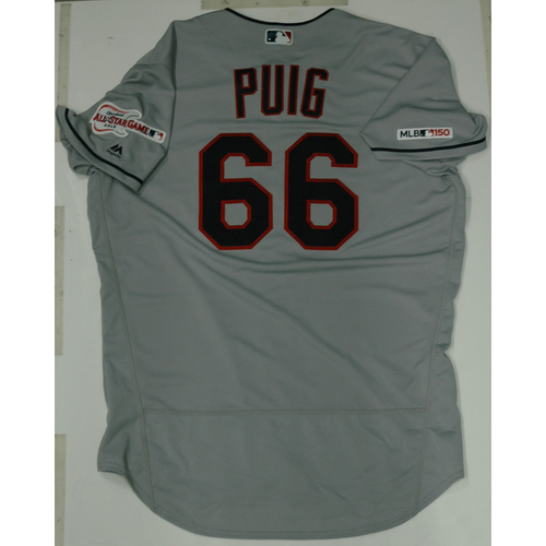 Photo of Yasiel Puig 2019 Team Issued Road Jersey