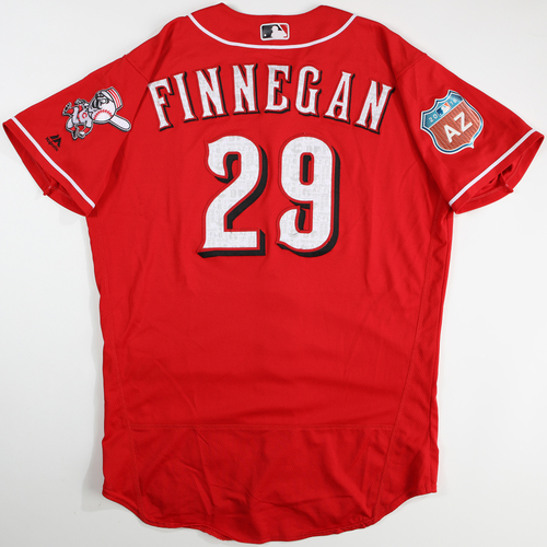 Photo of 2016 Spring Training - Spring Training Game Used Jersey - Brandon Finnegan (Reds)- Size- 46