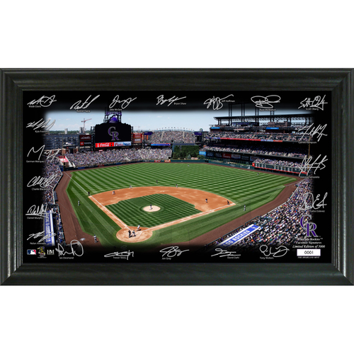 Photo of Colorado Rockies 2020 Signature Field Limited Edition Frame