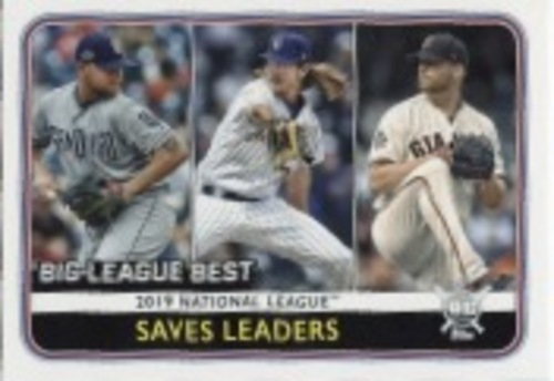 Photo of 2020 Topps Big League #260 Will Smith/Josh Hader/Kirby Yates LL