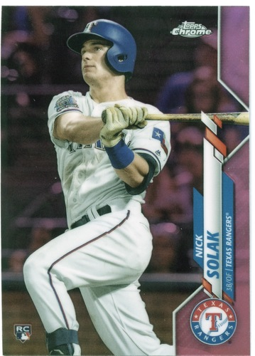 Photo of 2020 Topps Chrome Pink Refractors #33 Nick Solak