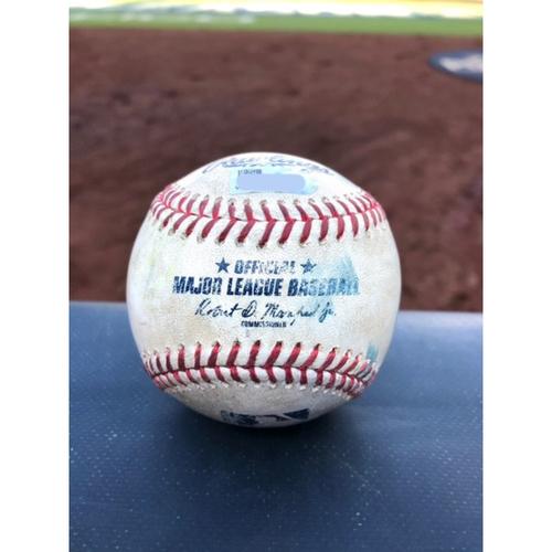 Game-Used Baseball - 2020 ALCS - Houston Astros vs. Tampa Bay Rays - Game 6 - Pitcher: Framber Valdez, Batter: Michael Brosseau (Strike Out) - Bot 1
