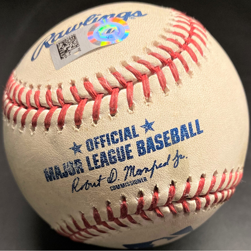 Photo of Game-Used Baseball: Christian Yelich Milwaukee Brewers Single (MLB AUTHENTICATED)