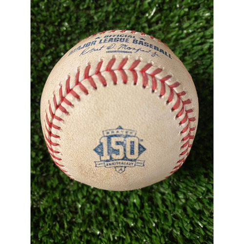 Photo of JT Realmuto Game Used Hit Double Baseball - 4/11/21, Top 2