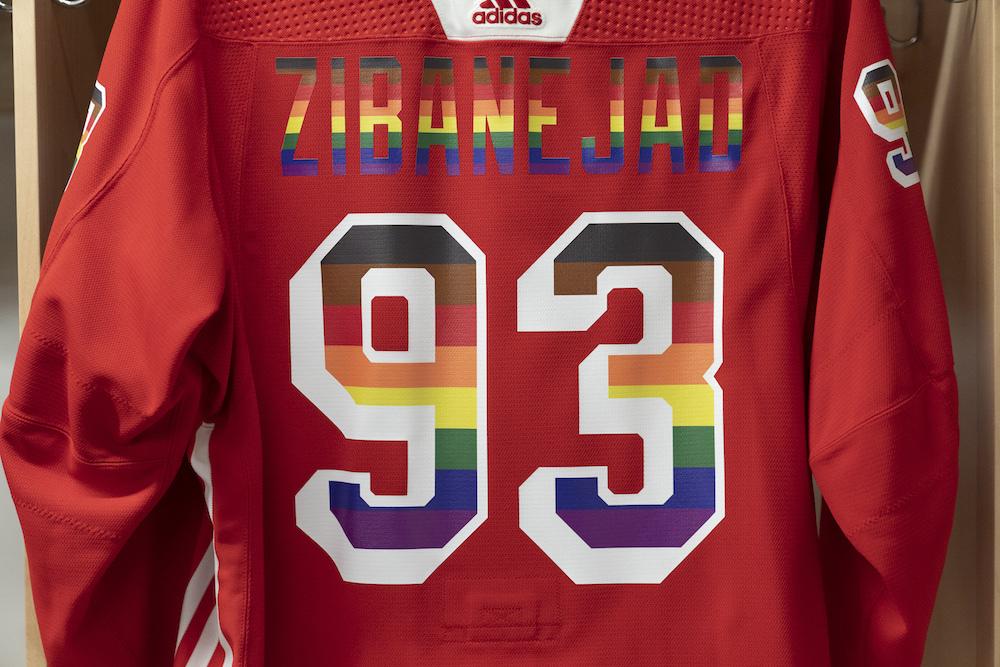 Autographed Pride Night Warm-Up Jersey: #93 Mika Zibanejad - New York Rangers