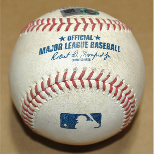 Photo of Game-Used Baseball - 2021 Little League Classic - Los Angeles Angels vs. Cleveland Indians - 8/22/2021 - Pitcher: James Karinchak, Batter: Jo Adell - Single - Top 8