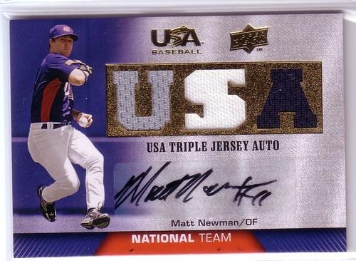 Photo of 2009-10 USA Baseball National Team Jersey Autographs #MN Matt Newman