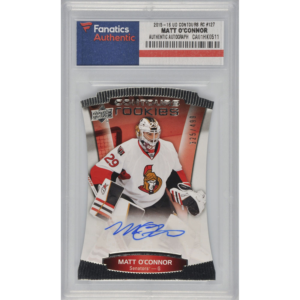 Matt O'Connor Ottawa Senators Autographed 2015-16 Upper Deck Contours Rookie #127 Card Pack Pulled