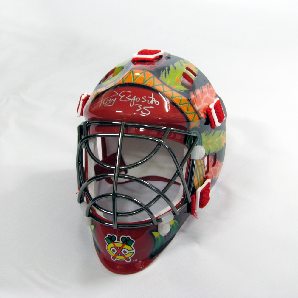 TONY ESPOSITO Signed Chicago Blackhawks Mini Mask