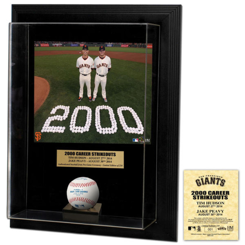 Photo of San Francisco Giants - Jake Peavy & Tim Hudson's 2000th Career Strikeout Commemorative Frame