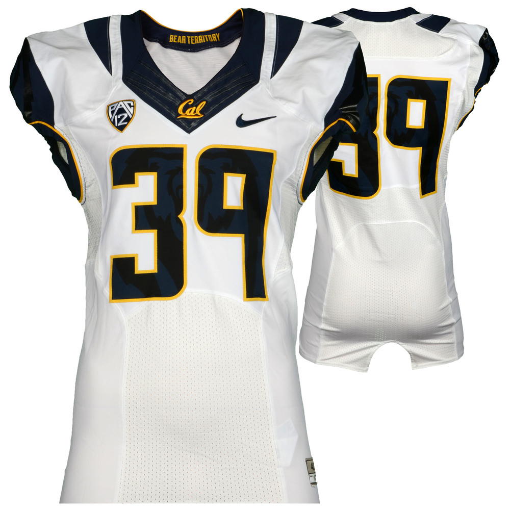 California Bears Game-Used #39 White Jersey Used During The 2015 Season - Size 42