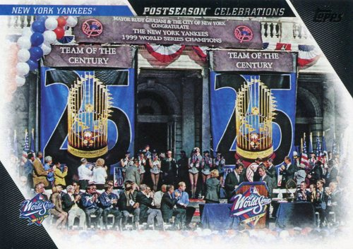 Photo of 2017 Topps Update Postseason Celebration #PC8 New York Yankees