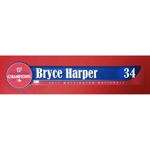 Photo of 2017 NL East Division Champions Locker Tag: Bryce Harper