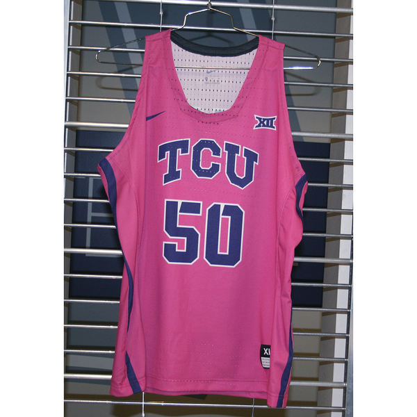 Photo of Women's Basketball Pink Game Worn Nike® Jersey #50 (XL)