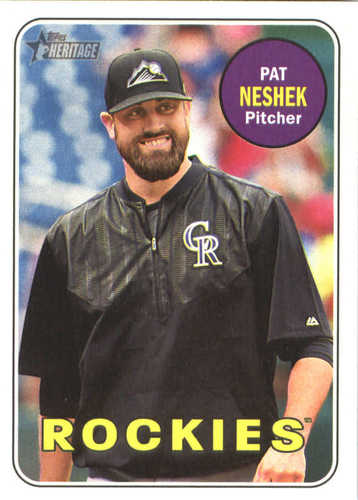 Photo of 2018 Topps Heritage #200 Pat Neshek