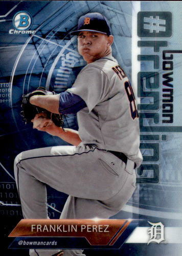Photo of 2018 Bowman Chrome Hashtag Bowman Trending Refractors #FP Franklin Perez