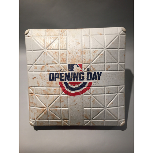 Photo of 2018 Los Angeles Angels Opening Day Base - 3rd base used 4th-9th innings