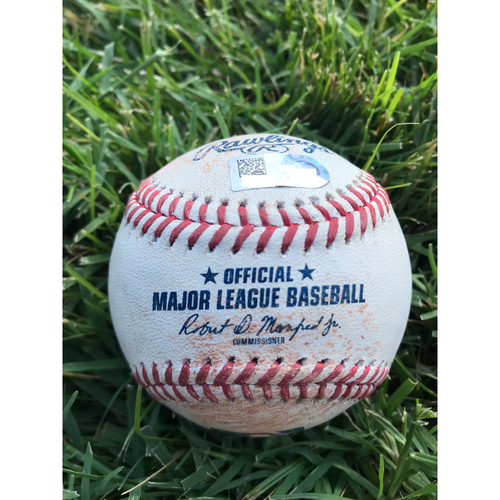 Photo of Cardinals Authentics: Game Used Baseball Pitched by George Kontos to Harrison Bader *Single 1 RBI*  *101.1 MPH* *10,000 Win*
