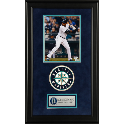 "Photo of Robinson Cano Seattle Mariners Deluxe Framed Autographed 8"" x 10"" Photo"