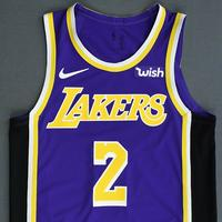 Lonzo Ball - Los Angeles Lakers - Game-Worn Statement Edition Jersey - 2018-19 Season