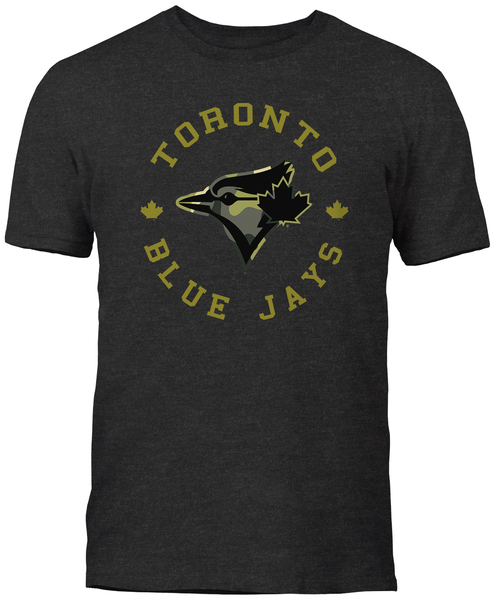 Toronto Blue Jays Camo Logo T-Shirt by Bulletin