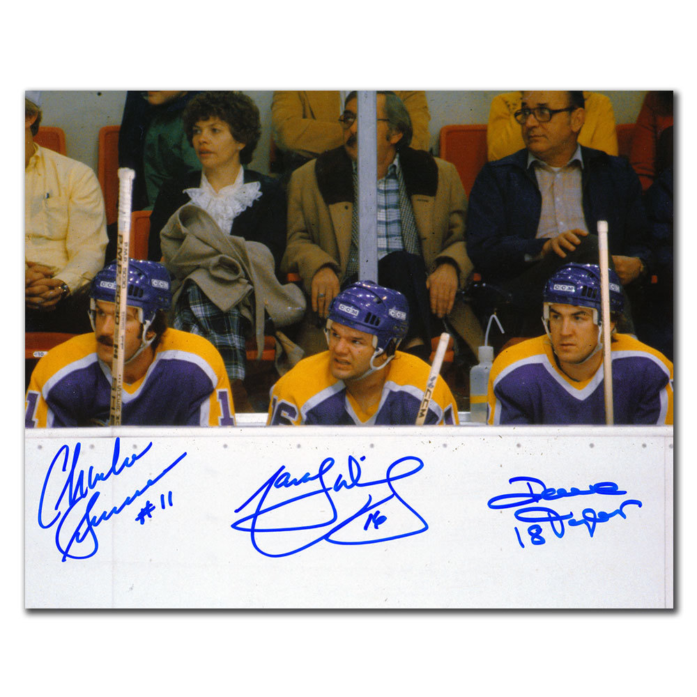 Marcel Dionne Dave Taylor & Charlie Simmer Los Angeles Kings TRIPLE CROWN LINE Autographed 8x10