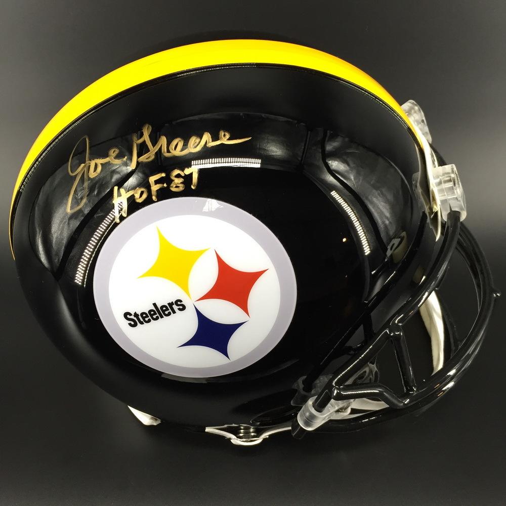 HOF - Steelers Joe Greene Signed Proline Helmet