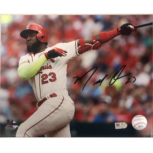 Photo of Cardinals Authentics: St. Louis Cardinals Marcell Ozuna Autographed Photo
