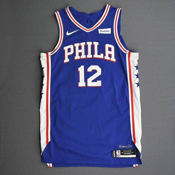Image of Tobias Harris - Philadelphia 76ers - Kia NBA Tip-Off 2019 - Game-Worn Icon Edition Jersey - Double-Double