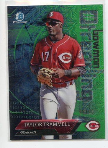 Photo of 2018 Bowman Chrome Hashtag Bowman Trending Green Refractors #TT Taylor Trammell
