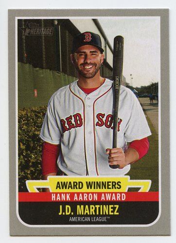 Photo of 2019 Topps Heritage Award Winners #AW9 J.D. Martinez