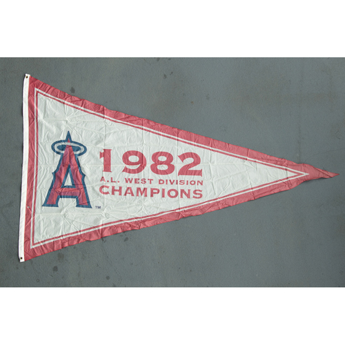 Photo of Los Angeles Angels  1982 American League West Division Champions Team-Issued Pennant