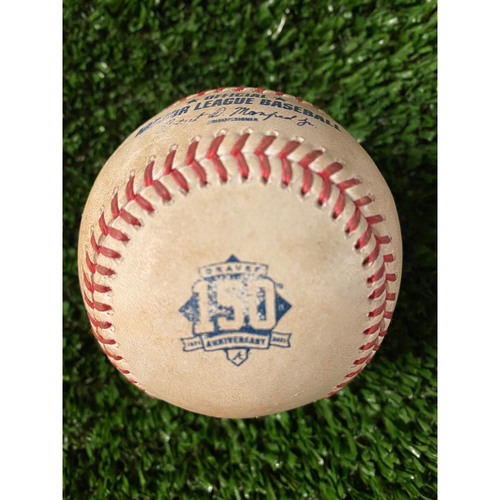 Photo of Alec Bohm Game Used Hit Single Baseball - 4/11/21, Top 4