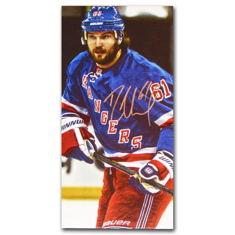 Rick Nash Autographed New York Rangers 8X16 Canvas