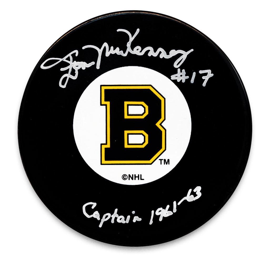 Don McKenney Boston Bruins Captain Autographed Puck