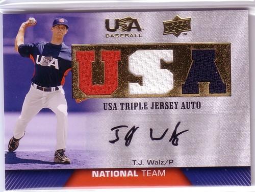 Photo of 2009-10 USA Baseball National Team Jersey Autographs #TW T.J. Walz