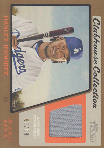 Photo of 2015 Topps Heritage Clubhouse Collection Relics Gold #CCRHR Hanley Ramirez