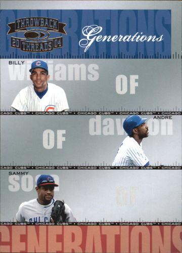 Photo of 2004 Throwback Threads Generations #17 B.Williams/Dawson/Sosa