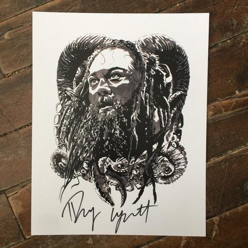 Bray Wyatt SIGNED 11 x 14 Rob Schamberger Print