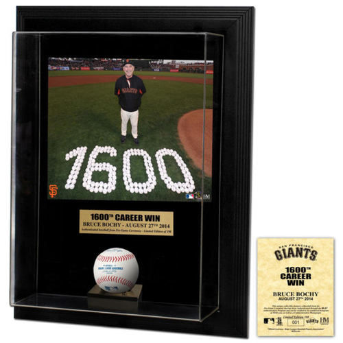 Photo of San Francisco Giants - Highland Mint - Commemorative Ball and Frame - Bruce Bochy 1600th Career Win