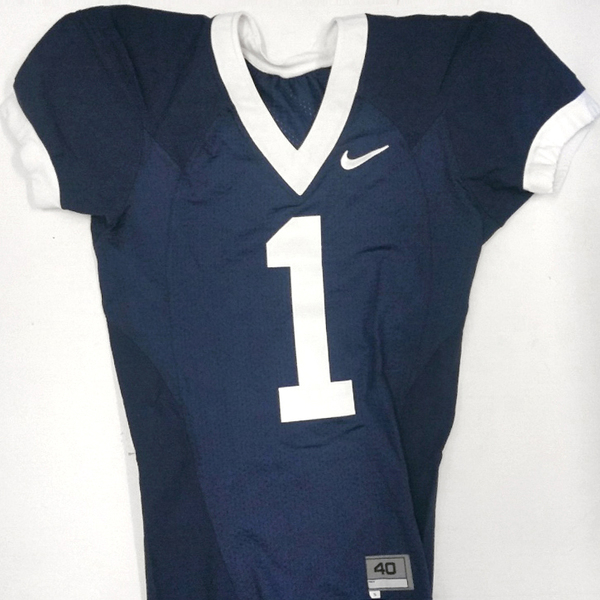 Photo of Penn State Game Used Football Jersey: Blue #1 (Size 40)
