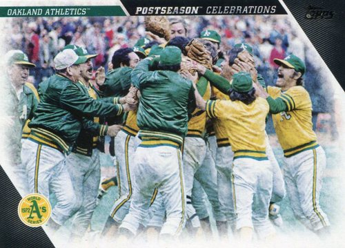 Photo of 2017 Topps Update Postseason Celebration #PC13 Oakland Athletics