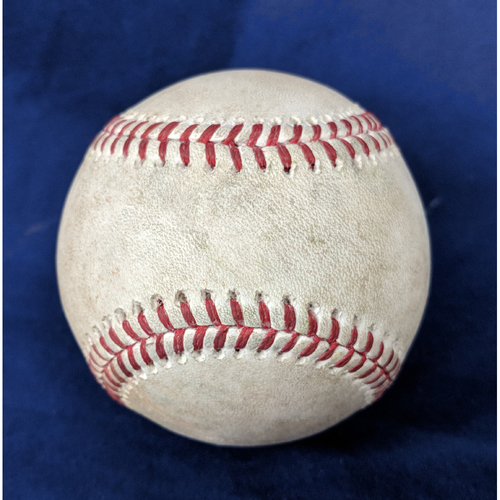 Photo of Game-Used Baseball: Albert Pujols & Justin Upton Single - 4/6/18