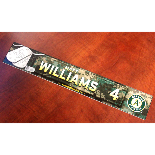 Photo of Matt Williams 2018 Team Issued Memorial Day Locker Nameplate