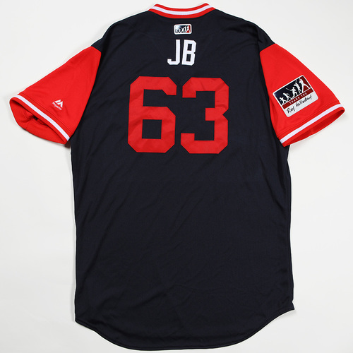 "Photo of Jesse ""JB"" Biddle Atlanta Braves Game-Used Jersey 2018 Players' Weekend Jersey"