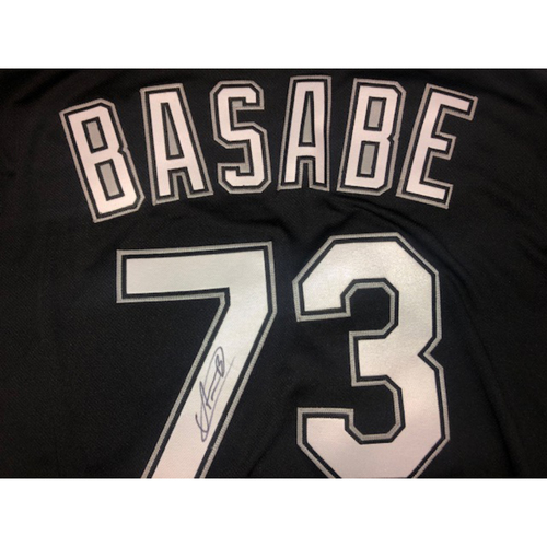Photo of Luis Basabe Autographed Black Alternate Jersey - Size 44