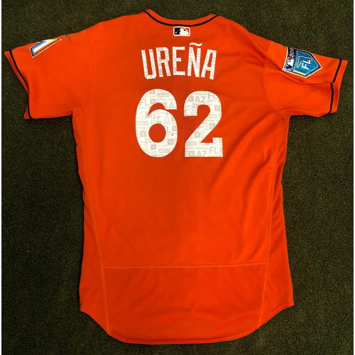 Photo of Game Used: Jose Urena 2018 Spring Training Jersey - Size 46