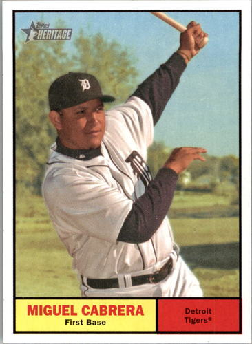 Photo of 2010 Topps Heritage #95 Miguel Cabrera